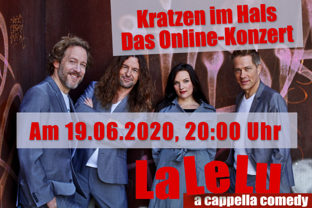LaLeLu a cappella comedy Online-Live-Konzert am 19.06.2020 um 20:00 Uhr