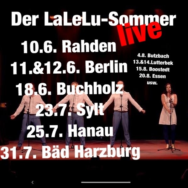 LaLeLu a cappella comedy live im Sommer 2021